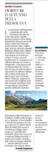 Corriere della Sera. Sentieri d'Autore 30.9.2016.